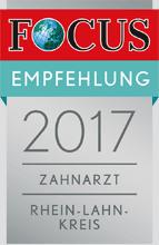 Von Focus empfohlene Zahnärzte in der Region Limburg